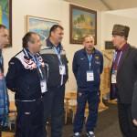 Глава Энема Хизир Хотко и главы поселений Тахтамукайского района в Кунацкой