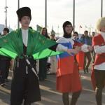 На площади Медаль Плаза. Танец причерноморских адыгов.